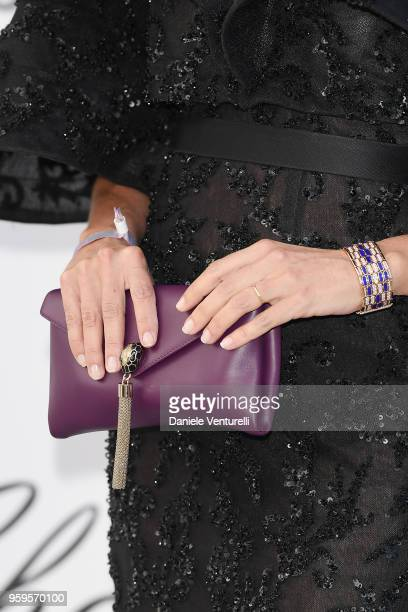 Christina Pitanguy fashion detail arrives at the amfAR Gala Cannes 2018 at Hotel du CapEdenRoc on May 17 2018 in Cap d'Antibes France