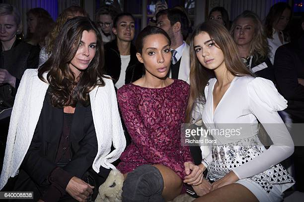 Christina Pitanguy Ines Rau and Helena Gatsby attend the Zuhair Murad Haute Couture Spring Summer 2017 show as part of Paris Fashion Week on January...