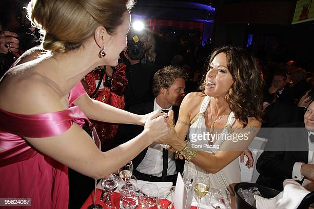Christina Plate and Lara Joy Koerner attend the 37 th German Filmball 2010 at the hotel Bayrischer Hof on January 16 2010 in Munich Germany