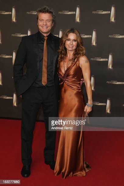 Christina Plate and Oliver Geissen arrive for the German TV Award 2012 at Coloneum on October 2 2012 in Cologne Germany