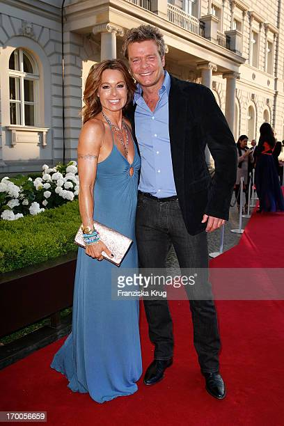 Christina Plate and Oliver Geissen attend the Bertelsmann Summer Party at the Bertelsmann representative office on June 6 2013 in Berlin Germany