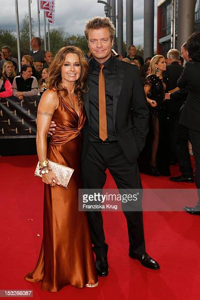 Christina Plate and Oliver Geissen attend the German TV Award 2012 at Coloneum on October 2 2012 in Cologne Germany
