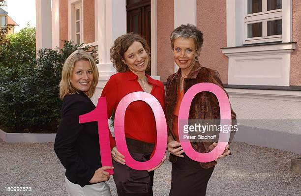 """Christina Rainer, Kathrin Spielvogel, Barbara Rath-Korte,;, ZDF-Serie """"Samt und Seide, 100.Folge, Augsburg,, Zahl 100, Jubiläum, Schauspieler,..."""