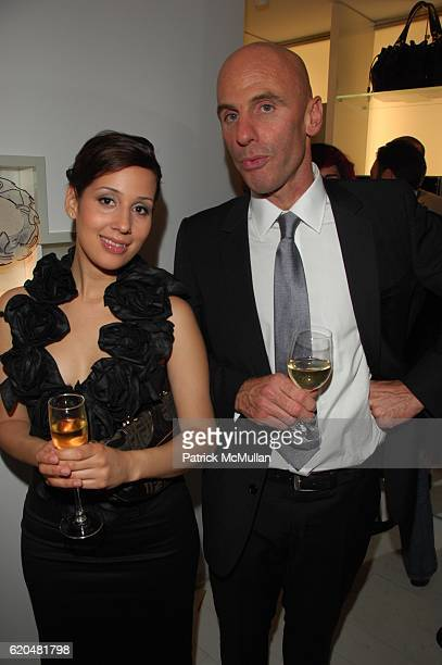 Christina Ramirez and Ari Zlotkin attend ANNE FONTAINE US Flagship Store Grand Opening at Anne Fontaine NYC on June 3 2008 in New York City