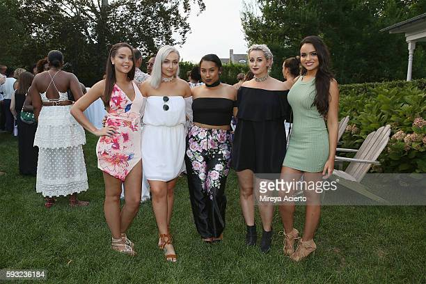 Christina Ramos Nicole Alyse Anaya Roderick Cahleigh Sereda and Lisa Ramos attend Daily Front Row's Luxury and Love party at Inn at Windmill Lane on...