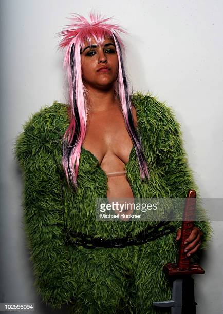Christina Ramos of Bakersfield Calif poses for a portrait outside Anime Expo 2010 at the Los Angeles Convention Center on July 2 2010 in Los Angeles...