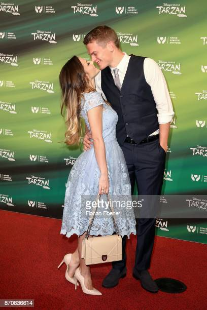 Christina Raphaella and Matthias Ginter attend the anniversary celebration of the musical 'Tarzan at Stage Metronom Theater on November 5 2017 in...