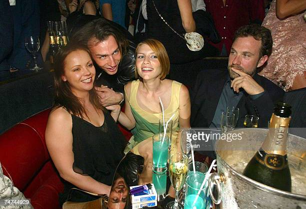 Christina Ricci Alexis Roche and Claire Danes Paris Fashion Week party at le lido in Paris France