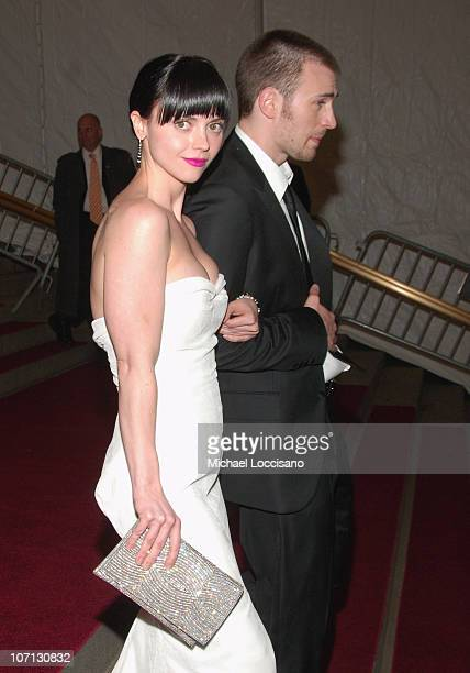 "Christina Ricci and Chris Evans during ""Poiret: King of Fashion"" Costume Institute Gala at The Metropolitan Museum of Art - Departures at The..."