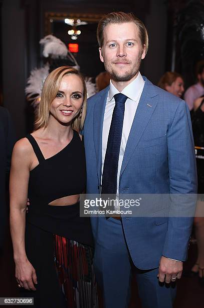 Christina Ricci and David Hoflin attend the premiere event for Amazon Prime Video's Z THE BEGINNING OF EVERYTHING on January 25 2017 in New York City