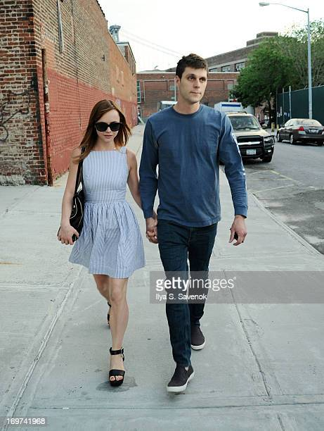 Christina Ricci and James Heerdegen are seen on May 31, 2013 in the Brooklyn borough of New York City.
