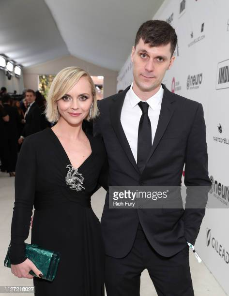 Christina Ricci and James Heerdegen attend the 27th annual Elton John AIDS Foundation Academy Awards Viewing Party sponsored by IMDb and Neuro Drinks...