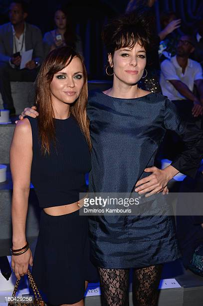 Christina Ricci and Parker Posey attend the Marc Jacobs Spring 2014 fashion show at The New York State Armory 68 Lexington on September 12 2013 in...