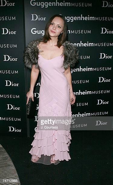 Christina Ricci at the Guggenheim Museum in New York City New York