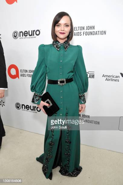 Christina Ricci attends Neuro Brands Presenting Sponsor At The Elton John AIDS Foundation's Academy Awards Viewing Party on February 09, 2020 in West...