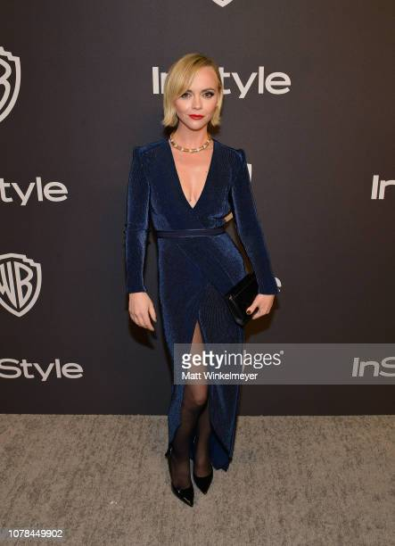 Christina Ricci attends the 2019 InStyle and Warner Bros 76th Annual Golden Globe Awards PostParty at The Beverly Hilton Hotel on January 6 2019 in...