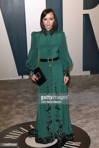 Christina Ricci attends the 2020 Vanity Fair Oscar Party at Wallis Annenberg Center for the Performing Arts on February 09, 2020 in Beverly Hills,...