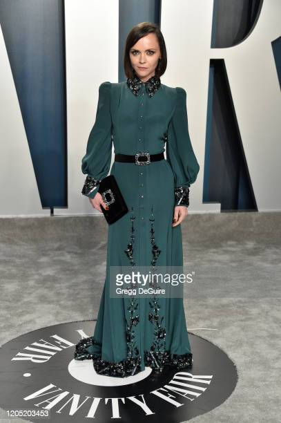 Christina Ricci attends the 2020 Vanity Fair Oscar Party hosted by Radhika Jones at Wallis Annenberg Center for the Performing Arts on February 09,...