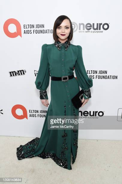 Christina Ricci attends the 28th Annual Elton John AIDS Foundation Academy Awards Viewing Party sponsored by IMDb, Neuro Drinks and Walmart on...