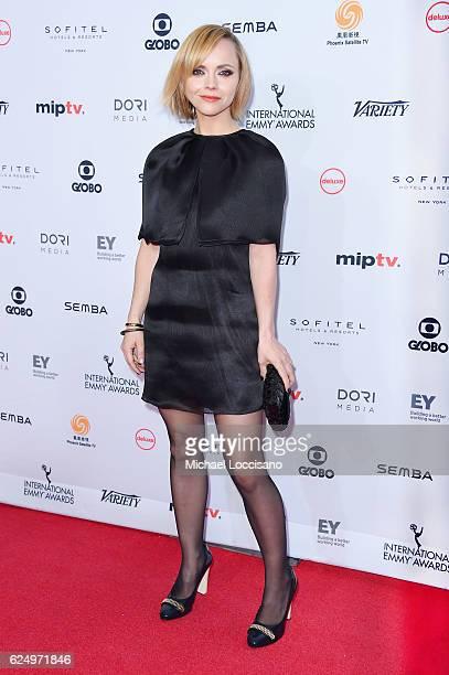 Christina Ricci attends the 44th International Emmy Awards at New York Hilton on November 21 2016 in New York City