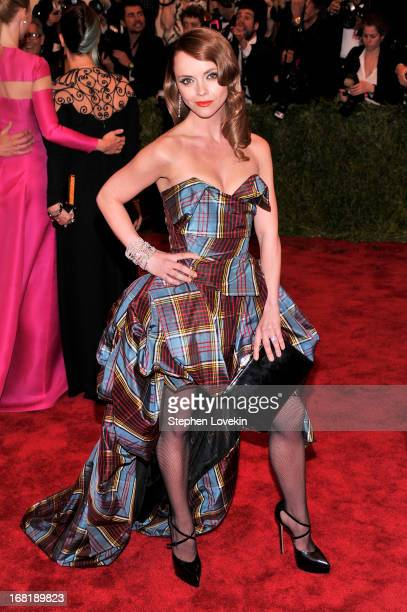 Christina Ricci attends the Costume Institute Gala for the PUNK Chaos to Couture exhibition at the Metropolitan Museum of Art on May 6 2013 in New...