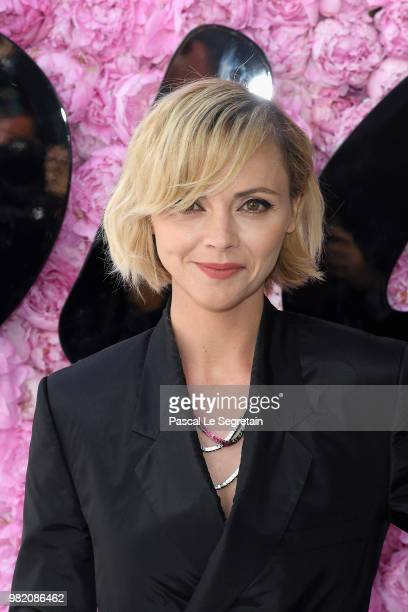 Christina Ricci attends the Dior Homme Menswear Spring/Summer 2019 show as part of Paris Fashion Week on June 23, 2018 in Paris, France.
