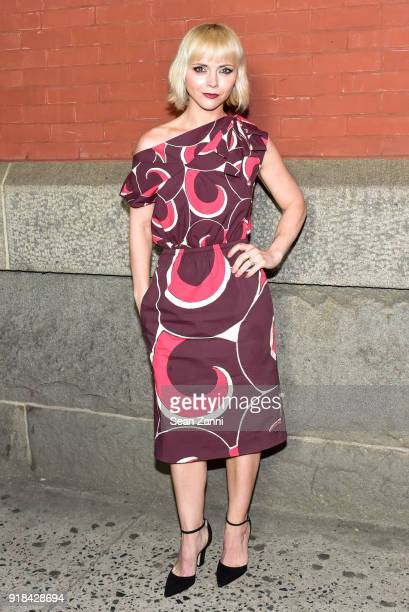 Christina Ricci attends the Marc Jacobs Fall 2018 fashion show during New York Fashion Week at Park Avenue Armory on February 14 2018 in New York City