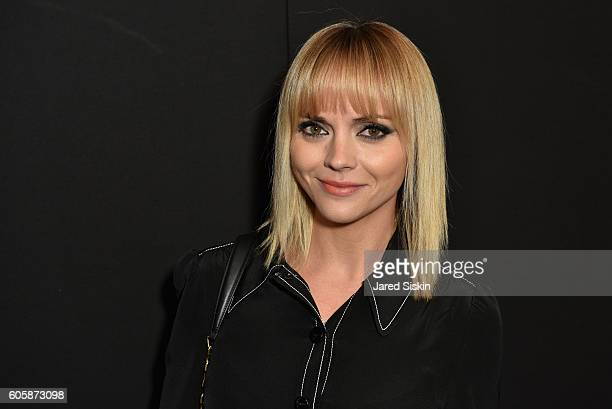 Christina Ricci attends the Marc Jacobs SS17 fashion show front row during New York Fashion Week at the Hammerstein Ballroom on September 15, 2016 in...
