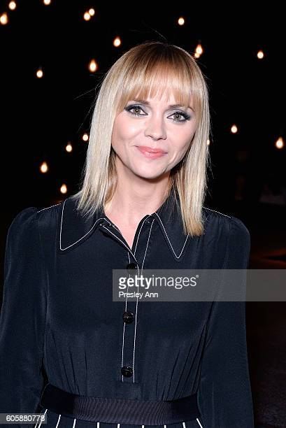Christina Ricci attends the Marc Jacobs SS17 fashion show front row during New York Fashion Week at the Hammerstein Ballroom on September 15 2016 in...
