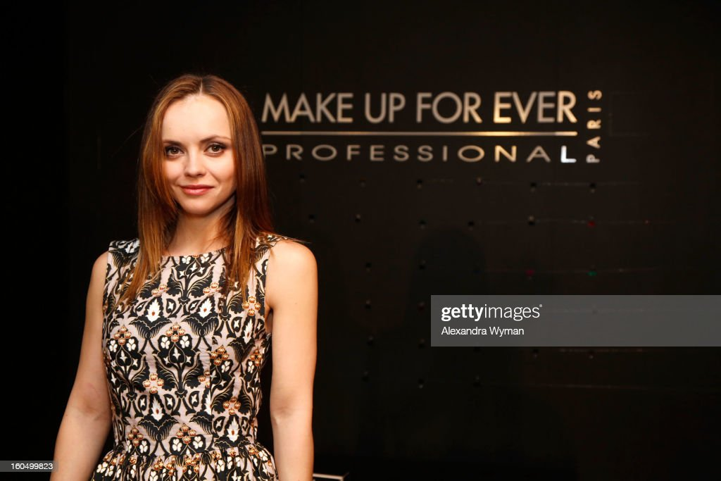 Christina Ricci Debuts Her MAKE UP FOR EVER Remix Make Up Bag At The MAKE UP FOR EVER Make Up Bag Remix Tour Stop At The Grove