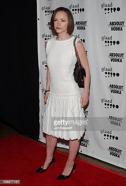 Christina Ricci during 15th Annual GLAAD Media Awards at Kodak Theatre in Hollywood California United States
