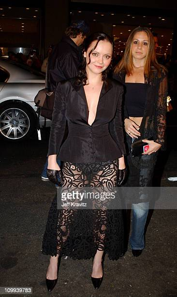 Christina Ricci during 2002 VH1 Vogue Fashion Awards Arrivals at Radio City Music Hall in New York City New York United States