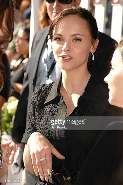 Christina Ricci during 2007 Film Independent's Spirit Awards Backstage at Santa Monica Pier in Santa Monica California United States