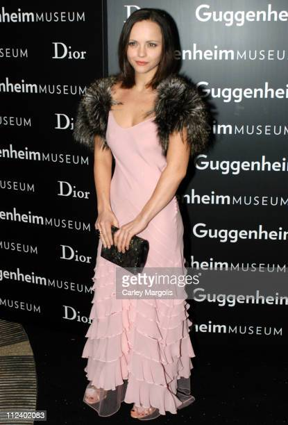 Christina Ricci during Dior Sponsors the Solomon R Guggenheim Museum's Young Collectors Council Artist's Ball Honoring Matthew Ritchie at Guggenheim...