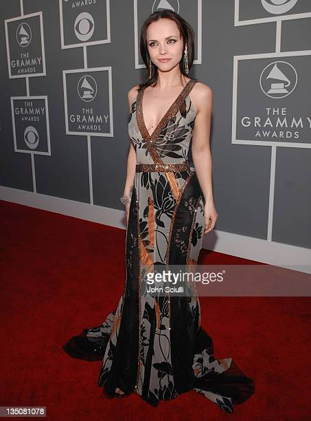 Christina Ricci during The 49th Annual GRAMMY Awards - GM Arrivals at Staples Center in Los Angeles, California, United States.