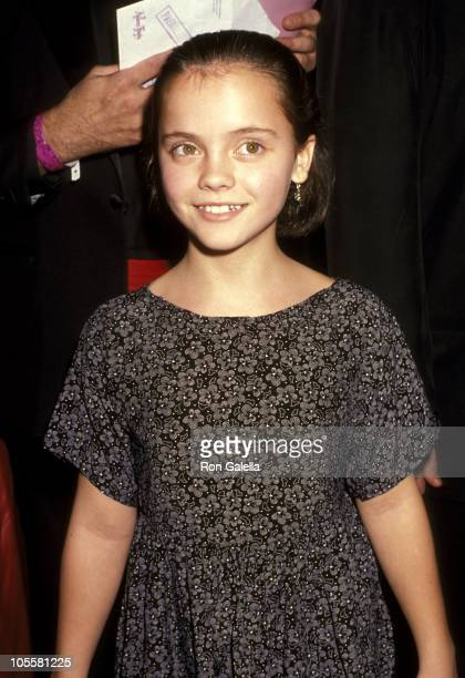 Christina Ricci during The Addams Family Beverly Hills Premiere November 19 1991 at The Academy Theater in Beverly Hills California United States