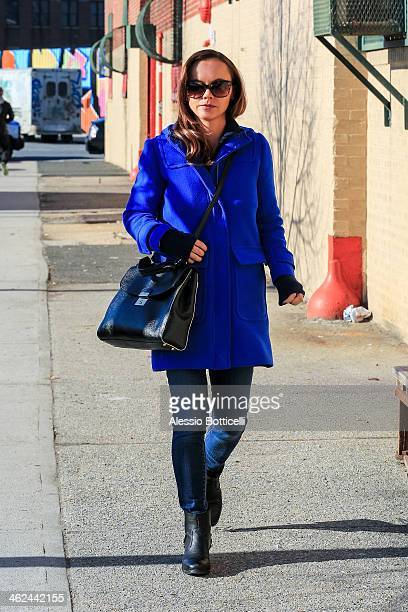 Christina Ricci is seen in Manhattan after making an appearance on 'Live With Kelly And Michael' TV Show on January 13 2014 in New York City