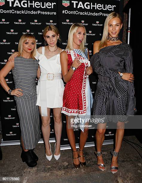 Christina Ricci Zosia Mamet Princess Olympia of Greece and Britt Maren attend the TAG Heuer Sponsoring The MONSE SS17 Runway Show on September 9 2016...