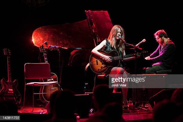 Christina Rosenvinge and Refree perform on stage during Festival de Guitarra de Barcelona at Luz De Gas on April 12 2012 in Barcelona Spain