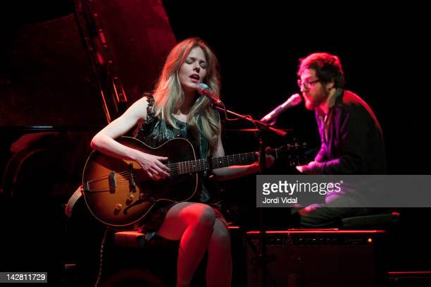 Christina Rosenvinge and Refree performs on stage during Festival de Guitarra de Barcelona at Luz De Gas on April 12 2012 in Barcelona Spain