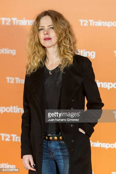 Christina Rosenvinge attends 'T2 Trainspotting' premiere at Sony Pictures building on February 16 2017 in Madrid Spain