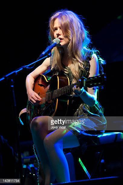 Christina Rosenvinge performs on stage during Festival de Guitarra de Barcelona at Luz De Gas on April 12 2012 in Barcelona Spain