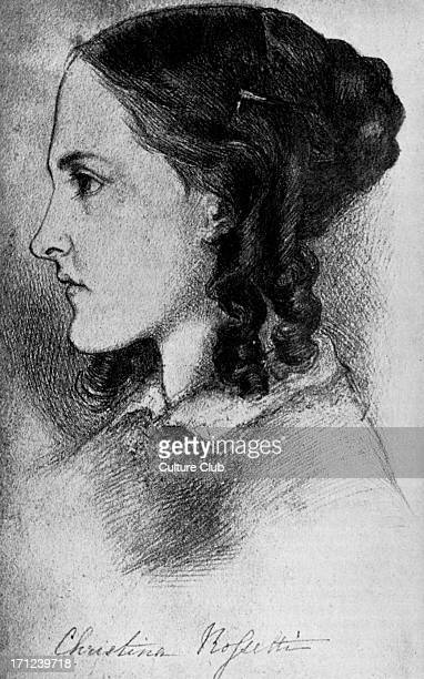 Christina Rossetti portrait of the English poet at the age of 16 5 December 1830 29 December 1894 Drawing by her brother Dante Gabriel Rossetti...