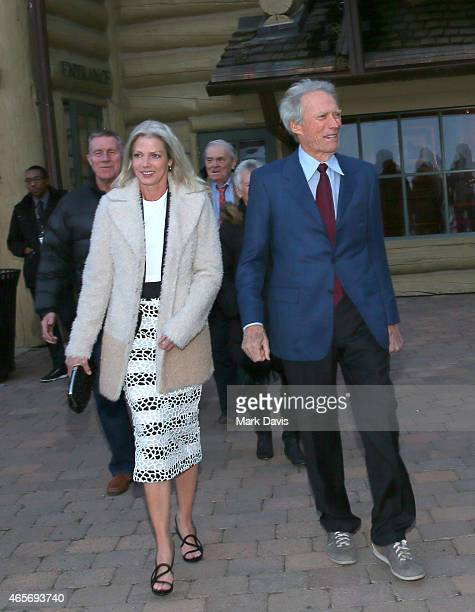 Christina Sandera and Clint Eastwood attend the 4th Annual Sun Valley Film Festival Vision Awards dinner honoring Clint Eastwood on March 7, 2015 in...