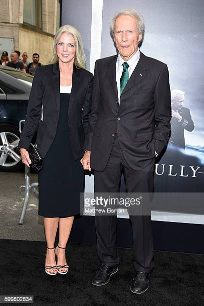 "Christina Sandera and Clint Eastwood attend the ""Sully"" New York Premiere at Alice Tully Hall on September 6, 2016 in New York City."