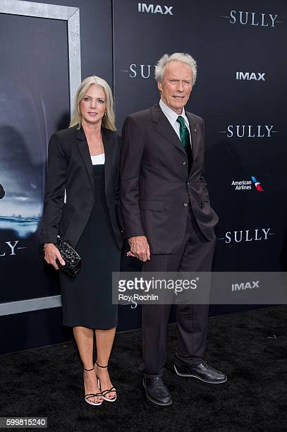 "Christina Sandera and Clint Eastwood attend the ""Sully"" New York premiere at Alice Tully Hall, Lincoln Center on September 6, 2016 in New York City."