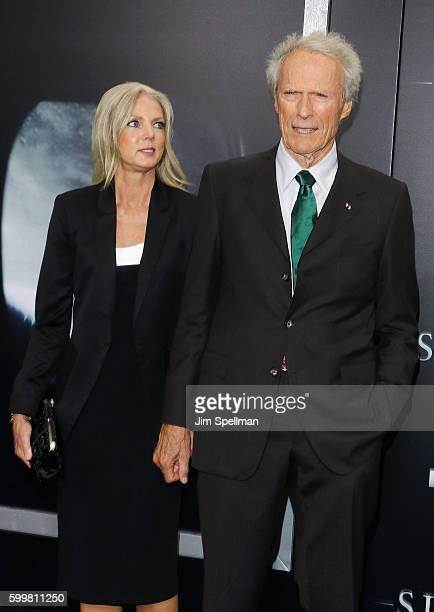 """Christina Sandera and director Clint Eastwood attend the """"Sully"""" New York premiere at Alice Tully Hall, Lincoln Center on September 6, 2016 in New..."""
