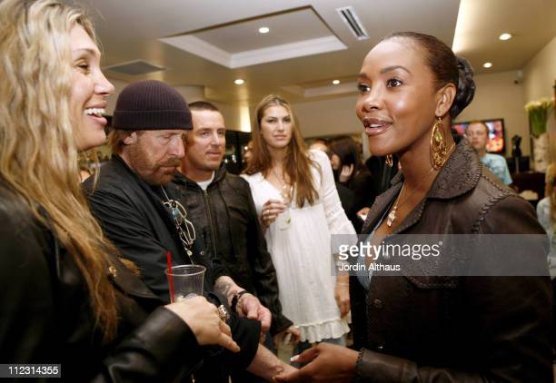 Christina Sands and Vivica Fox during Grand Opening of Optical Shop of Aspen in Malibu March 15 2007 at Optical Shop of Aspen in Malibu California...
