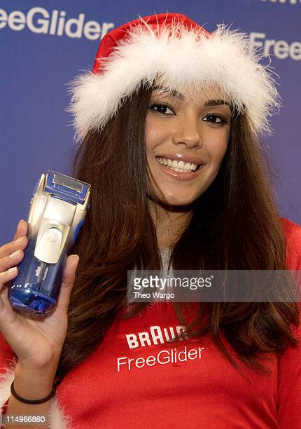 Christina Santiago 2003 Playmate of the Year during Braun Free Glider Hosts PreHoliday Pampering Session Featuring Playboy Playmates in New York City...
