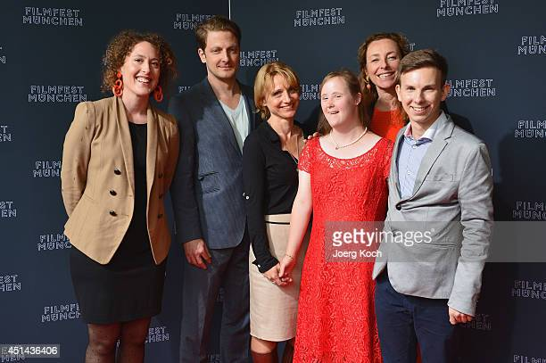 Christina Schiewe, Florian Appelius, Christina Grosse, Carina Kuehne, Diana Illjen and Holger Stockhaus attend the 'Be My Baby' Premiere as part of...